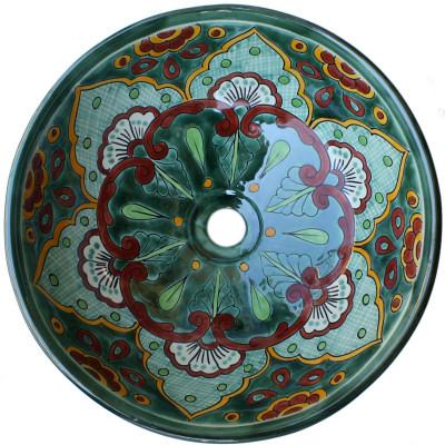 15 round sink green greca round ceramic talavera vessel sink