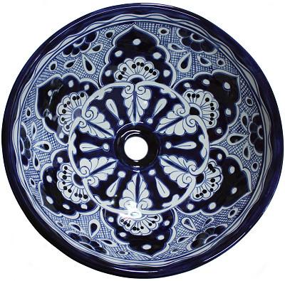 15 round sink blue round ceramic talavera vessel sink