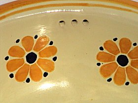 Yellow Daisy Ceramic Talavera Sink Close-Up