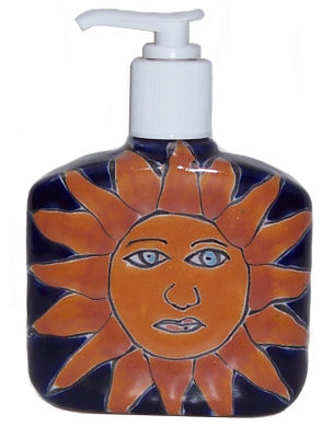 Sun Talavera Soap Container