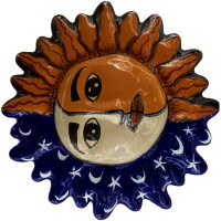 Moon Talavera Ceramic Sun Face