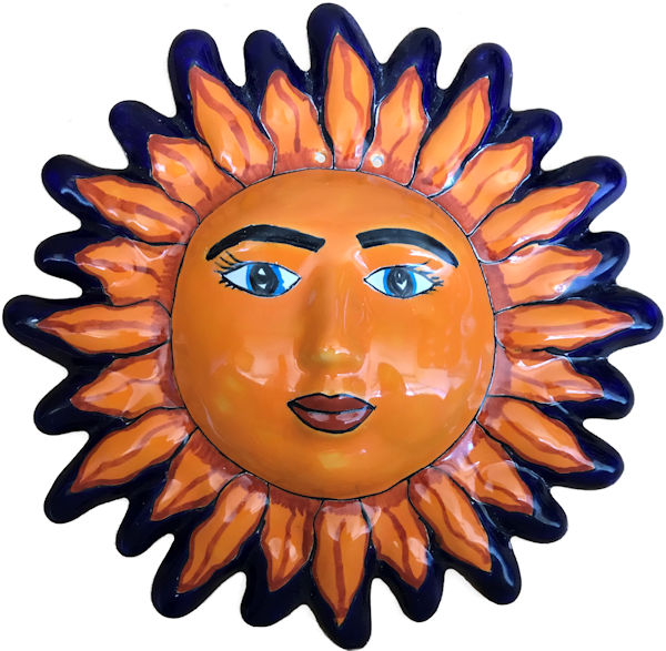 Talavera Ceramic Sun Face