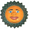 Green Peacock Talavera Ceramic Big Sun Face