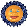 Blue Talavera Ceramic Big Sun Face