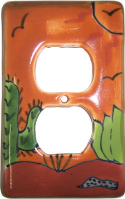 Desert Talavera Outlet Switch Plate