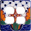 Turtle Talavera Double Outlet Switch Plate