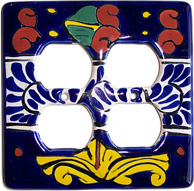 Marigold Talavera Double Outlet Switch Plate
