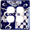 Traditional Talavera Double Outlet Switch Plate