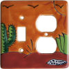 Desert Talavera Toggle-Outlet Switch Plate