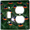 Peacock Talavera Toggle-Outlet Switch Plate