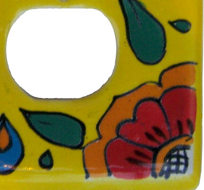 Canary Talavera Decora-Outlet Switch Plate Close-Up
