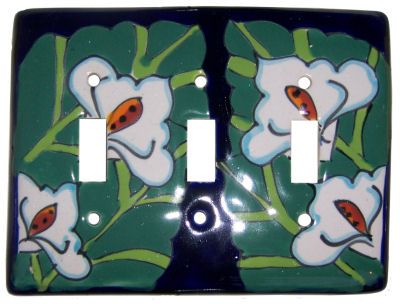 Lily Talavera Triple Toggle Switch Plate