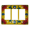 Canary Talavera Triple Decora Switch Plate