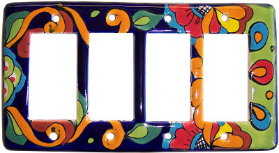 Rainbow Talavera Quadruple Decora Switch Plate