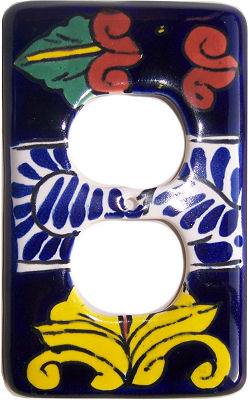 Outlet Marigold Talavera Switch Plate