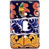 Single Toggle Marigold Talavera Switch Plate