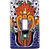 Single Toggle Turtle Talavera Switch Plate