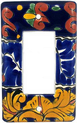 Single Decora Marigold Talavera Switch Plate