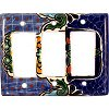Triple Decora Blue Mesh Talavera Switch Plate