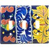 Triple Toggle Marigold Talavera Switch Plate