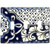 Triple Toggle Traditional Talavera Switch Plate