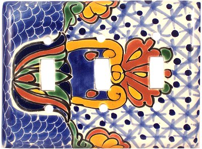 Triple Toggle Turtle Talavera Switch Plate