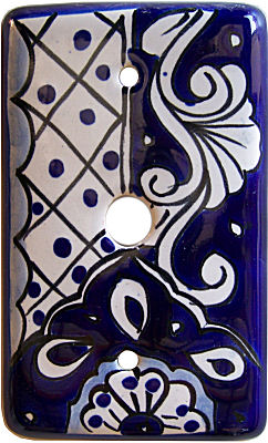 Traditional Talavera TV Cable Plate