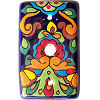 Rainbow Talavera TV Cable Plate