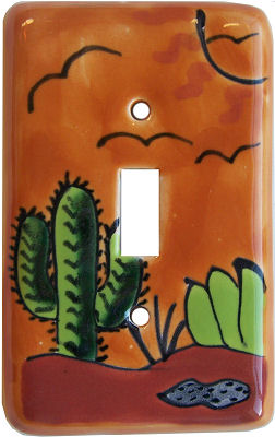 Desert Talavera Single Toggle Switch Plate