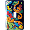 Rainbow Talavera Single Toggle Switch Plate