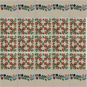 Bouquet Bower Talavera Ceramic Tile