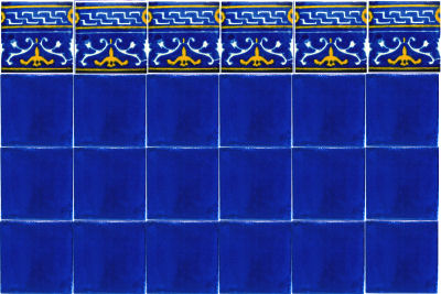 Blue Mayan Talavera Ceramic Tile