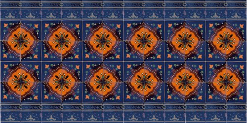 Concha Flower Talavera Ceramic Tile