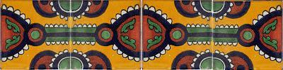 Indio Talavera Mexican Tile Close-Up