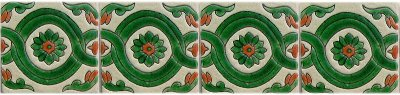 Alhambra Green Atenas Talavera Mexican Tile Close-Up