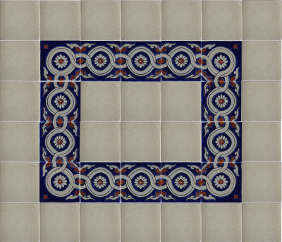 Alhambra Atenas 4B Talavera Mexican Tile Close-Up