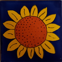 Big Sunflower Talavera Mexican Tile