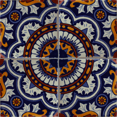 Moroccan Talavera Mexican Tile Close-Up