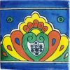 Yellow Royal Crown Talavera Mexican Tile