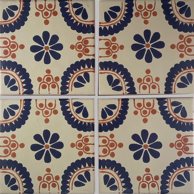 Blue Madrid Talavera Mexican Tile Details