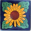 Four Leaves Sunflower Talavera Mexican Tile II