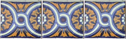 Chain Talavera Mexican Tile Close-Up