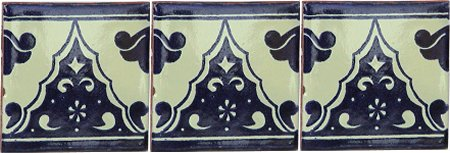 Sierra Talavera Mexican Tile Close-Up
