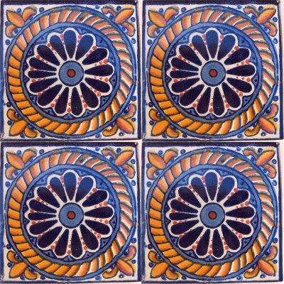 Lazo Talavera Mexican Tile Close-Up