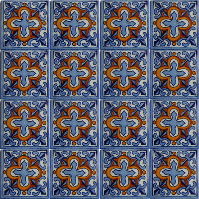 Escudo Talavera Mexican Tile Close-Up