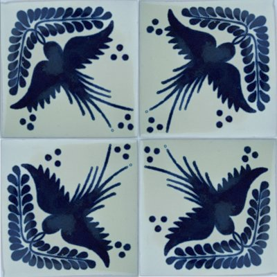 Golondrina Talavera Mexican Tile Close-Up