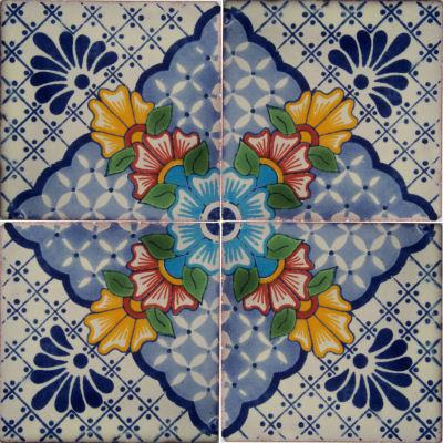 Blue mesh talavera mexican tile Cheap mexican tile