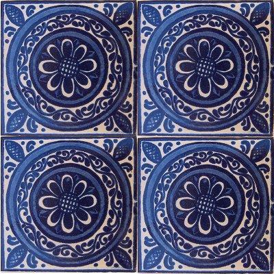 Blue target talavera mexican tile Cheap mexican tile
