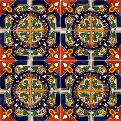 Blue mesh ceramic talavera sink Cheap mexican tile