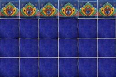Cobalt Blue Talavera Mexican Tile